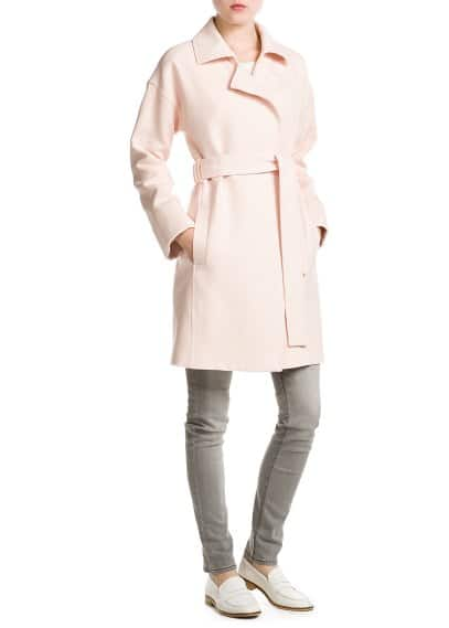 Bow textured coat