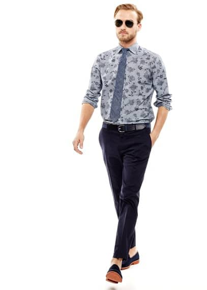 Camisa slim-fit rayas estampada