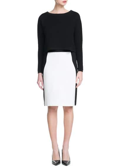Monochrome pencil skirt