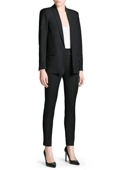 Basic straight-cut blazer