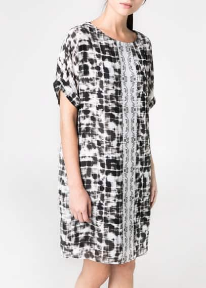 Mixed print dress