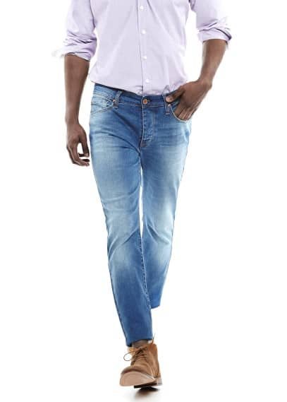 Jeans Tim slim-fit lavado medio