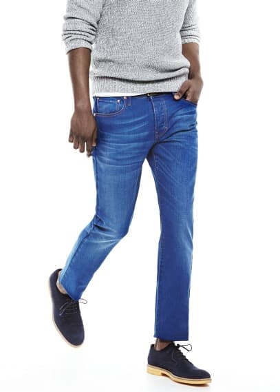 Jeans Tim slim-fit cor tinta