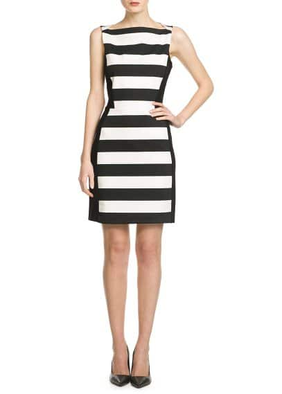 Stretch striped dress