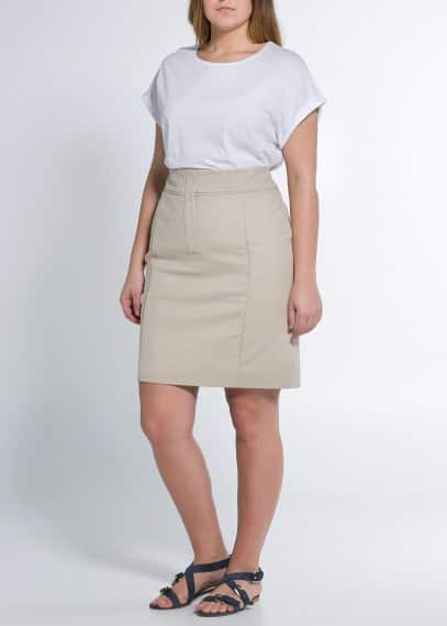 Fitted cotton skirt