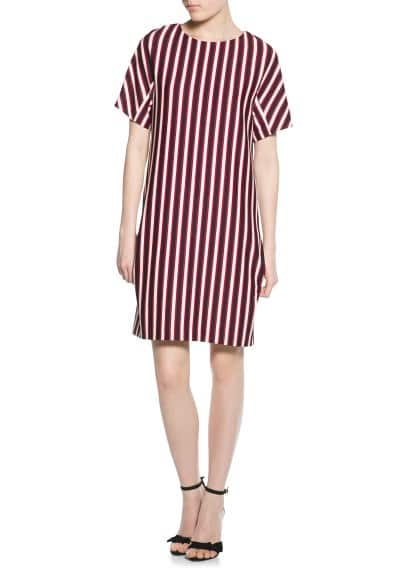 Striped textured dress