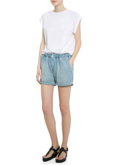 Shorts aus Leinen-Tencel-Mix