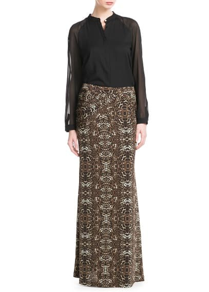Leopard long skirt