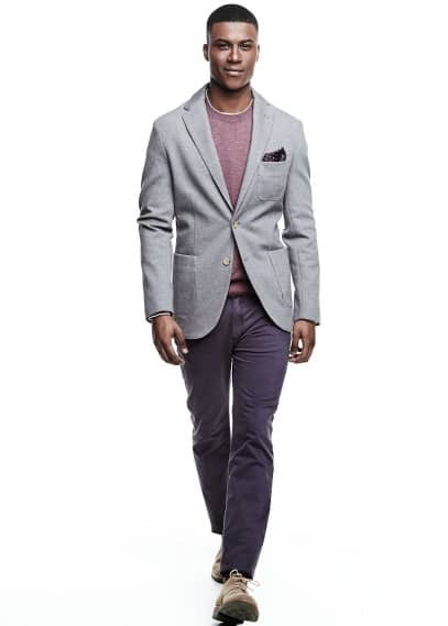 Unstructured piqué blazer