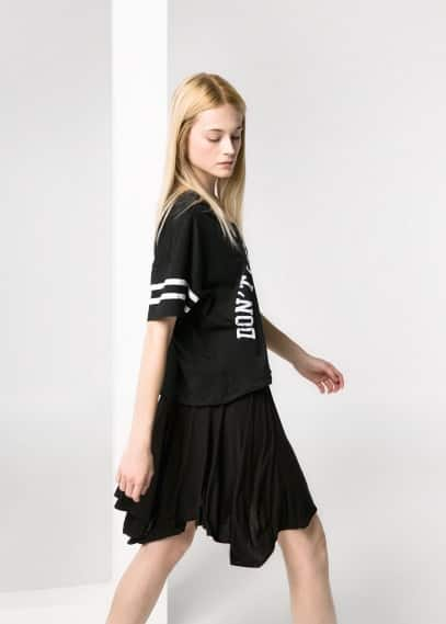Asymmetric flared skirt