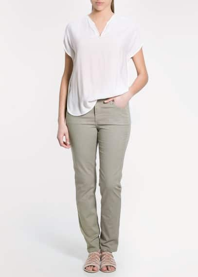 Pantalon jacquard serpent