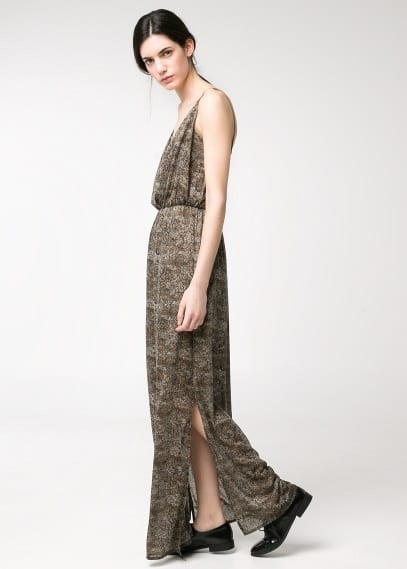 Wrap long dress