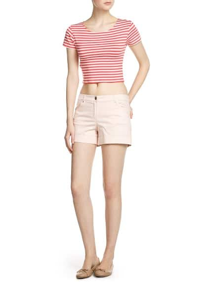 Camiseta cropped rayas
