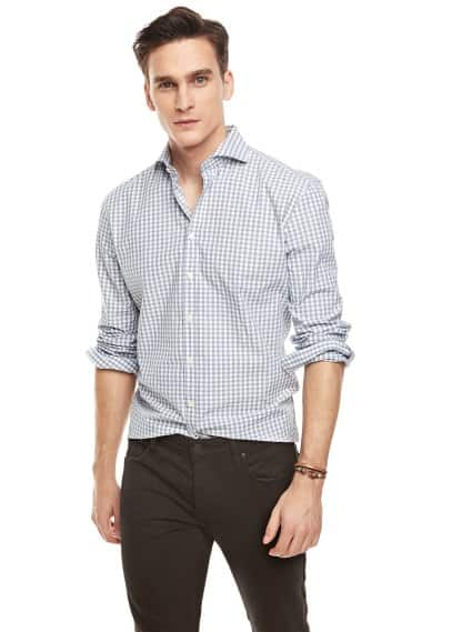 Camisa slim-fit cuadros