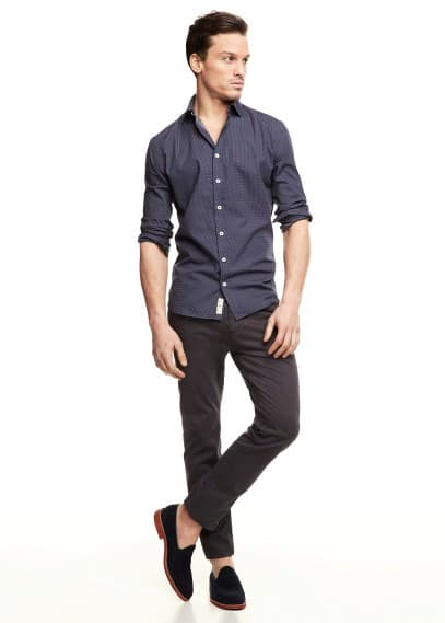 Slim-fit polka-dot shirt
