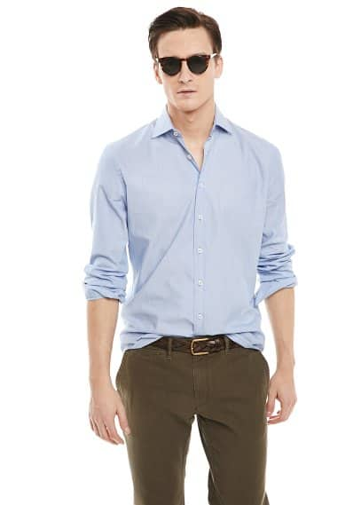 Camisa slim-fit mil rayas