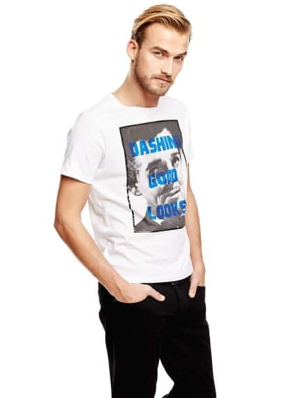 T-shirt estampada Clark Gable