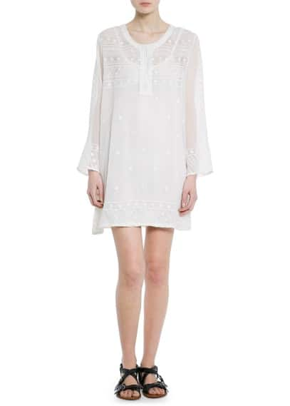 Embroidered chiffon dress