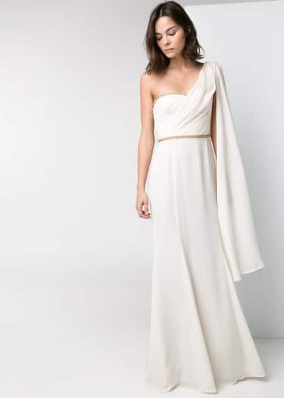 Cascading long dress