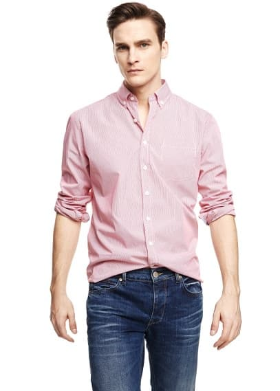 Camisa classic-fit rayas finas
