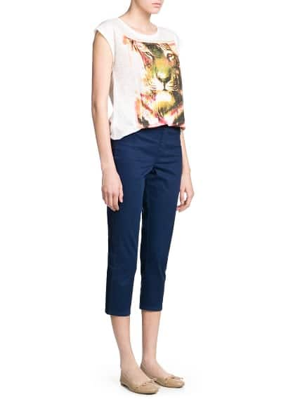 Jeggings capri coton