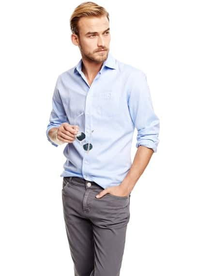 Slim-fit jacquard shirt
