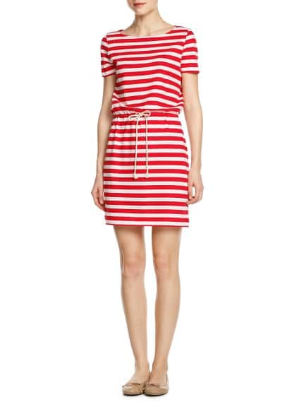Drawstring striped dress