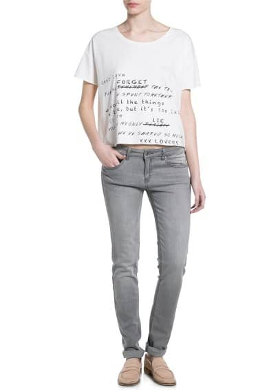 Message cropped t-shirt