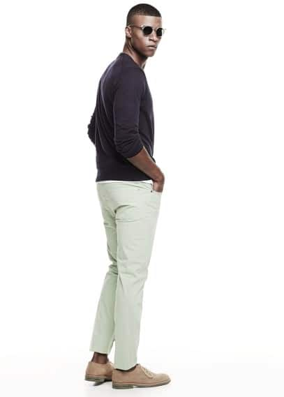 Katoenen slim-fit 5-pocket broek