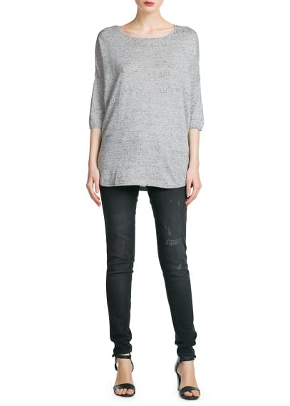 Dolman sleeves sweater
