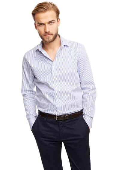 Slim-fit Premium striped twill shirt