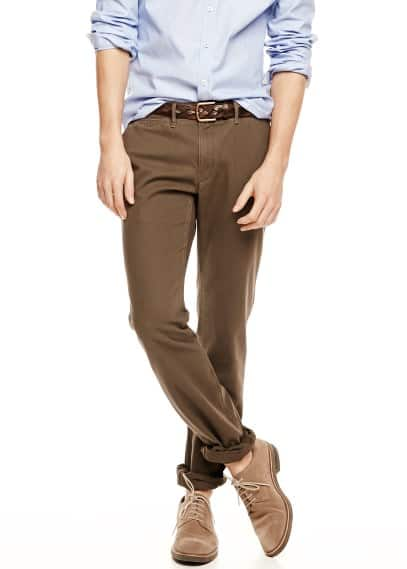 Slim Fit Chinohose Canvas