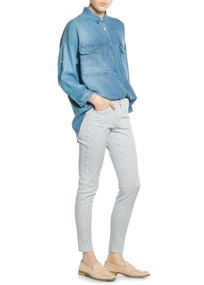 Slim Fit Hose mit Muster