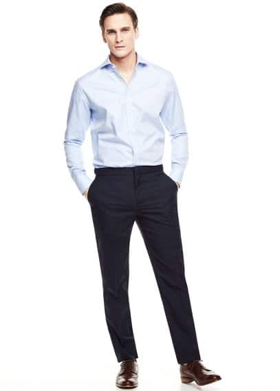 Prince of Wales suit trousers