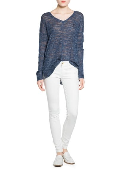 Flecked linen-blend sweater