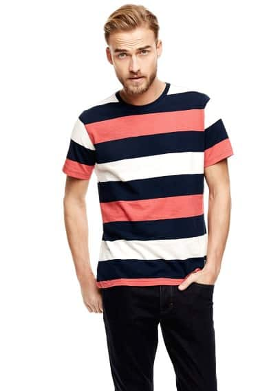 Color block striped t-shirt