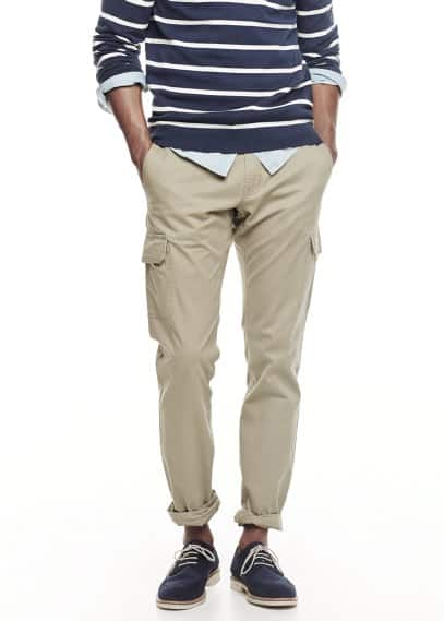Cotton cargo trousers