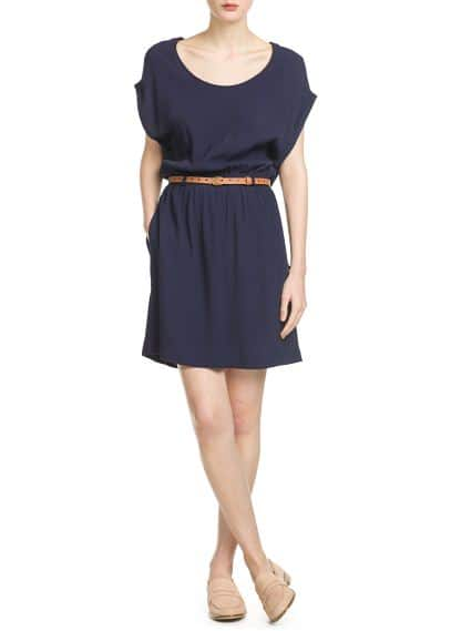 Detachable belt dress