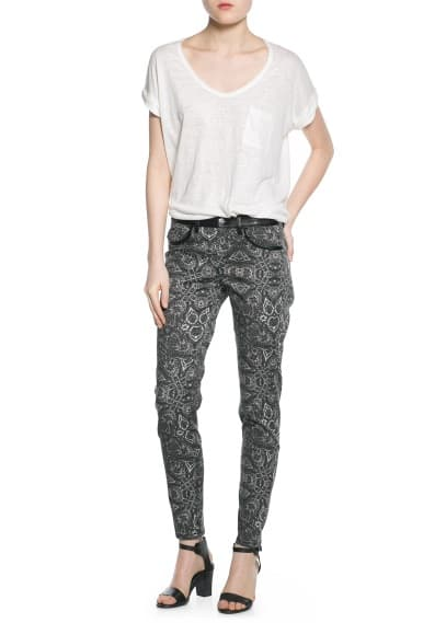 Pantalon slim baroque