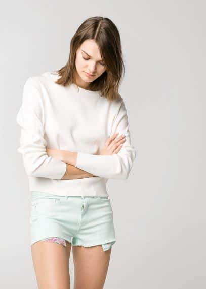 Short denim mint