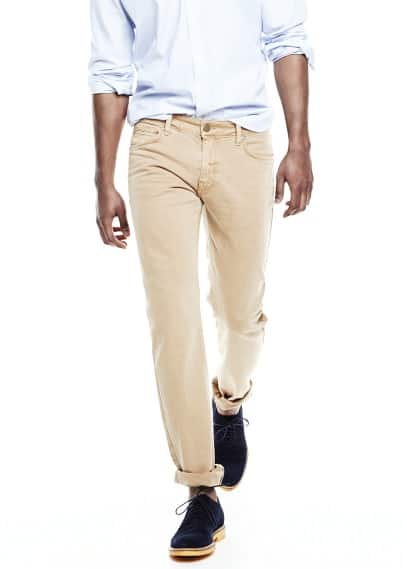 Jeans Alex slim-fit cor torrada