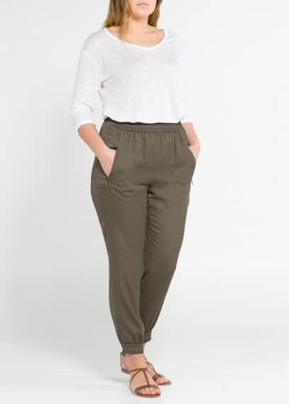 Zip baggy trousers
