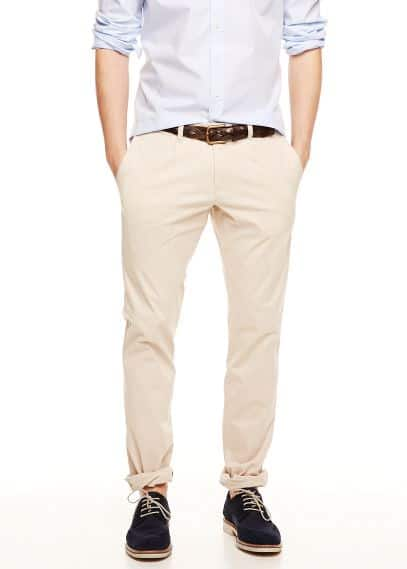Chino slim-fit pinzas