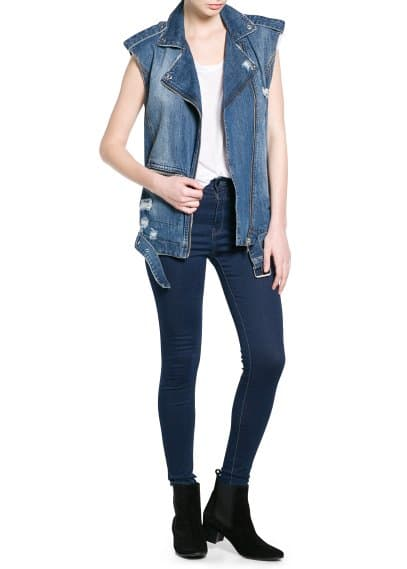 Denim bikergilet