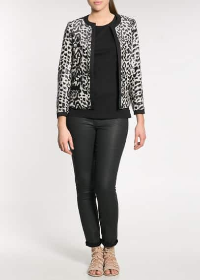 Sequin monochrome jacket