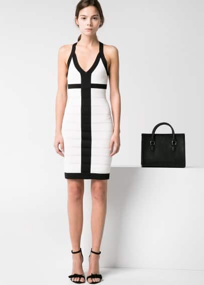 Monochrome bodycon dress