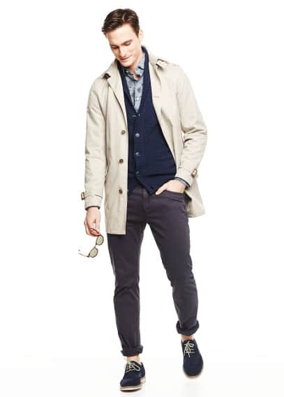 Waterproof cotton-blend trench coat