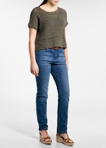 Open-knit top