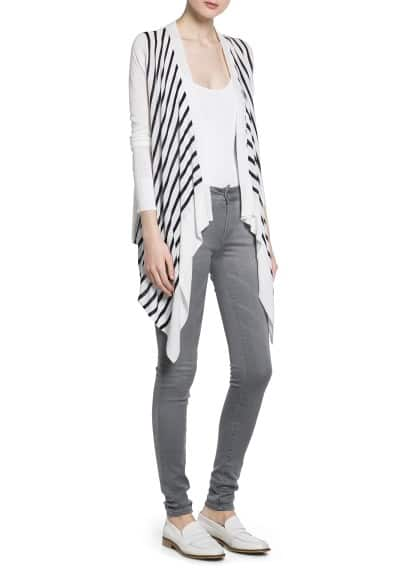 Bicolor striped cardigan