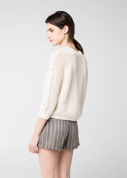 Jacquard cotton shorts